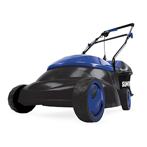 Sun Joe MJ401E-SJB Mow Joe 14-Inch 12 Amp Electric Lawn Mower With Grass Bag, Dark Blue