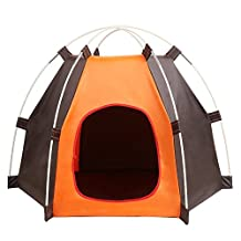 Pet House Folding Cat House Portable Waterproof Pet Tent for Small Dog and moggies Indoor & Outdoor Small Animals Shelter Lovely for the Kitties to Snooze in
