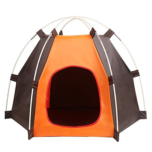 Pet House Folding Cat Dog House Portable Waterproof Pet Tent Indoor & Outdoor Small Animals Shelter Lovely for Small Dog and Cat by ZMVA (Image #6)