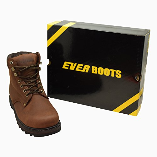 Soft Insulated Toe Leather Grain Construction Full Darkbrown Rubber Boots BOOTS Men's