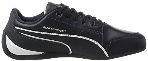 Puma Bmw Ms Drift Cat 7 Sneaker In Pelle Motorsport Leder Blu Bianco, Blu