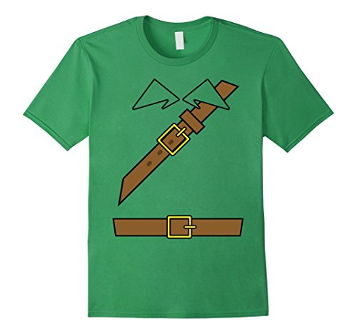 Mens Funny Tunic Merry Men Costume Tshirt - For Halloween Large (Robin Hood Tunic)