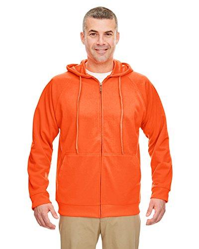 UltraClub Adult Rugged Wear Thermal-Lined Full-Zip Jacket 8463 - Bright Orange_M
