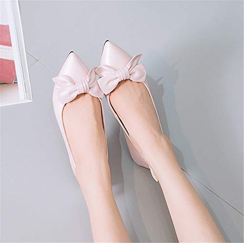 Shallow shoes pointed mouth FLYRCX office heel pregnant B low shoes ladies work comfortable shoes women breathable single shoes flat shoes qCgwdC