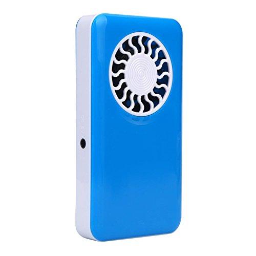Zeshlla Mini Portable USB Handheld Fan Small Air Conditioner (Blue)