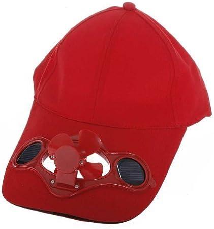 Sí67886 Camping Viaje Solar sombrero Gorra Ventilador enfriado por ...