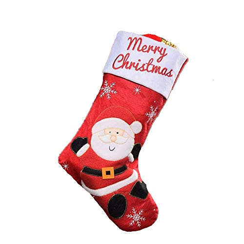 5 Pieces Christmas Stockings/Festival Decorations, Old Man, Elk, Christmas Gift Bags, Candy Bags, Pendants,B ()