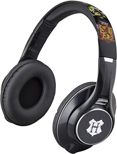 Harry Potter Wireless Bluetooth Headphones with Microphone Voice Activation and Bonus Aux Cable