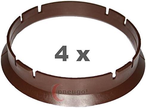 4 X Zentrierringe Kunststoff 70 0mm Auf 67 1mm Braun Auto