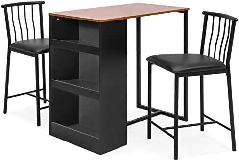 home, kitchen, furniture, kitchen, dining room furniture,  table, chair sets 9 discount Best Choice Products 36-Inch Wooden Metal Kitchen promotion