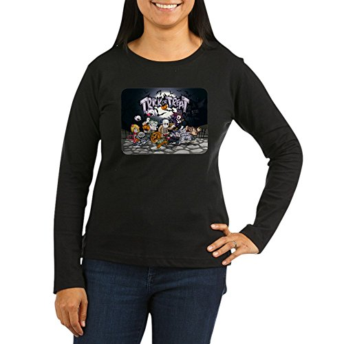 Royal Lion Womens Long Sleeve Dk T-Shirt Halloween