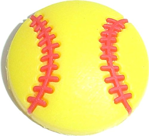 Yellow Softball Baseball Shoe Rubber Charm SC870