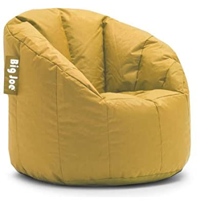 Big Joe Milano Bean Bag Chair | Filled with UltimaX Beans | Soft but Firm Support (Marigold)