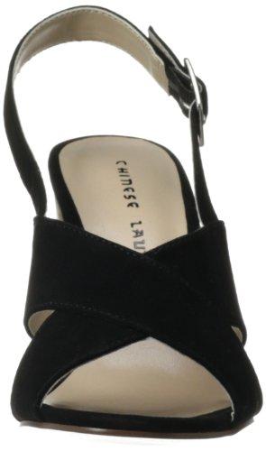 Frauen Wäsche Ballad Chinesische Wildleder Schwarz Sandale Kleid pHqdw5T