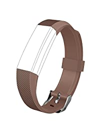 Fitbit Alta Band, UMTELE Soft Replacement Wristband with Metal Buckle Clasp for Fitbit Alta Smart Fitness Tracker, Coffee