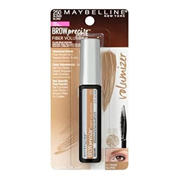 Maybelline Brow Precise Fiber Volumizer Mascara, 250 Blonde (Pack of 2)