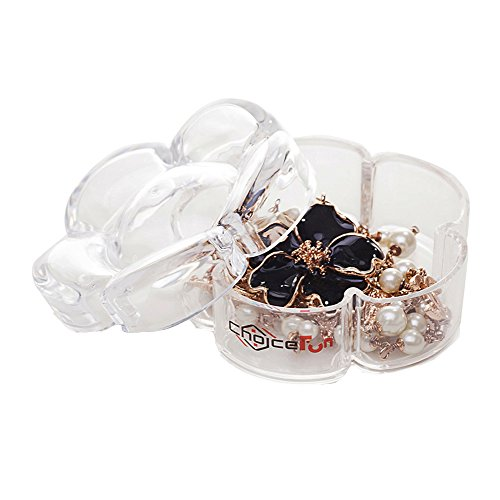 Acrylic Flower Shaped Jewelry Storage Box Choice Fun Transparent QFJJSN-SF-2133 Heart Shell Necklace Set