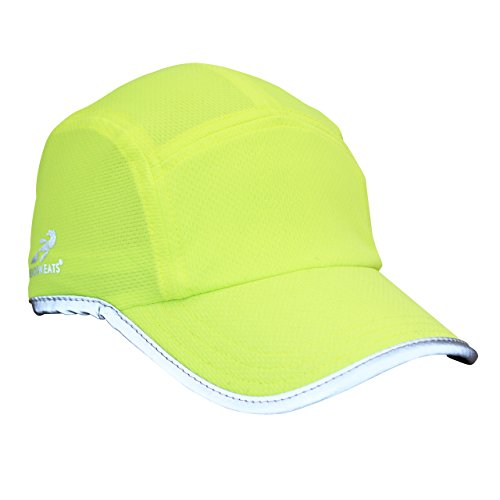 Headsweats Performance Running/Outdoor Sports Hat, High Visibility Yellow Reflective, One Size (Headsweats Sun Visor compare prices)