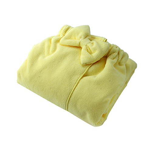 Yellow Spa Wrap (Froomer Women Comfy Absorbent Microfiber Fleece Shower Spa Body Wrap Bath Towel)