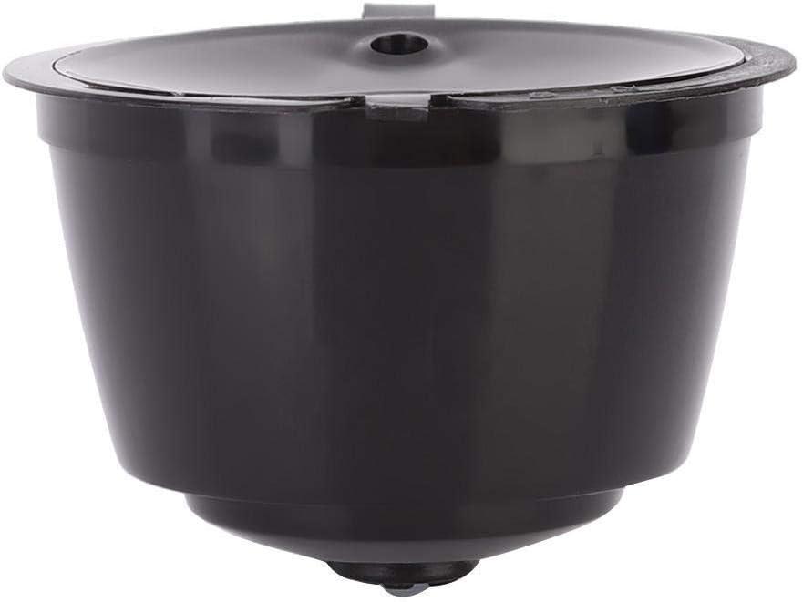 Negro Rockyin 3pcs Reutilizable Recargable caf/é c/ápsula de Filtro de Repuesto for la Copa Fit Dolce Gusto