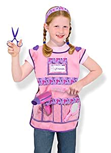 Melissa & Doug Hair Stylist Role Play Costume Dress-Up Set (7 pcs)