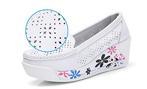 Lightweight Shoes Walking White Platform Fitness set adil Slip Soft Rocker Mesh Tennis Ladies Womens Toning Shoes on Shoes Shoes Sports Wedges 6B876