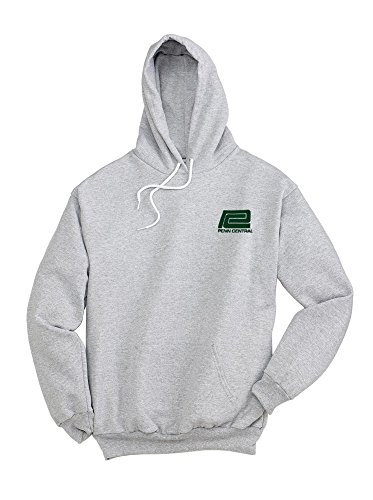 - Penn Central Logo Pullover Hoodie Sweatshirt Ash Adult M [92]