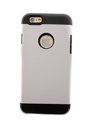 TCD for Apple iPhone 6 6S [4.7 inch device ONLY] Hybrid Case [WHITE] Speckled Rugged Protective Series Multi Layer [Hard/Soft Combo] Thin Sleek Case Cover [SCREEN PROTECTOR STYLUS]