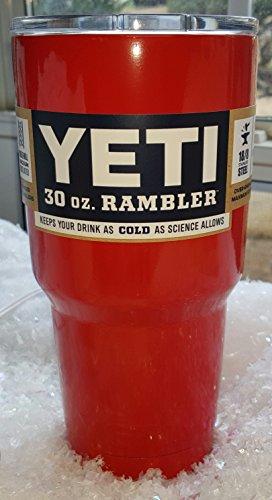 Rambler Tumbler Stainless Custom Red Orange product image