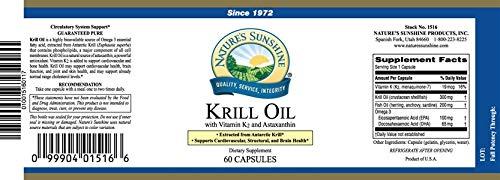 Krill Oil with Vitamin K2 – Cardiovascular Brain Skin Cholesterol – 60 Softgels