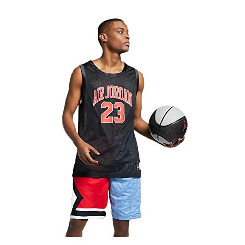 Nike Men's Jordan DNA Distorted Basketball Jersey Size Medium Black (Michael Jordan Washington Bullets Jersey 23 Throwback)