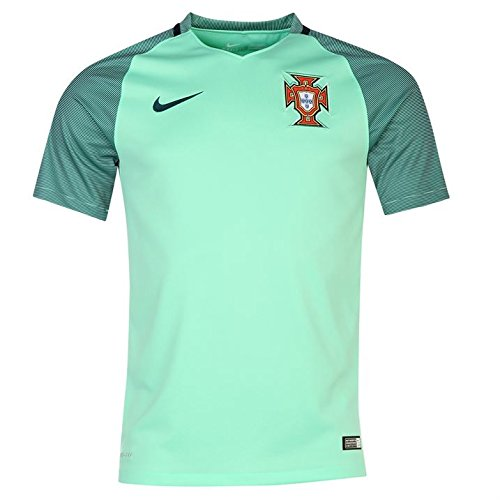 (Nike Kid's Portugal Away Stadium Soccer Jersey (Green) Youth Medium)