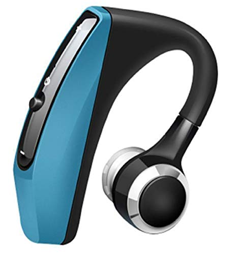 (Pelotek; Hand Free Bluetooth Headset | Ear Hook Headphones | in Ear Headphones Wireless Bluetooth | Premium Luxury Quality Design with Mic Voice Control Noise Cancelling Technology (Blue))