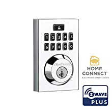 Kwikset 99140-021 914CNT ZW500 26 SMT CP Smart Lock, Contemporary Polished Chrome