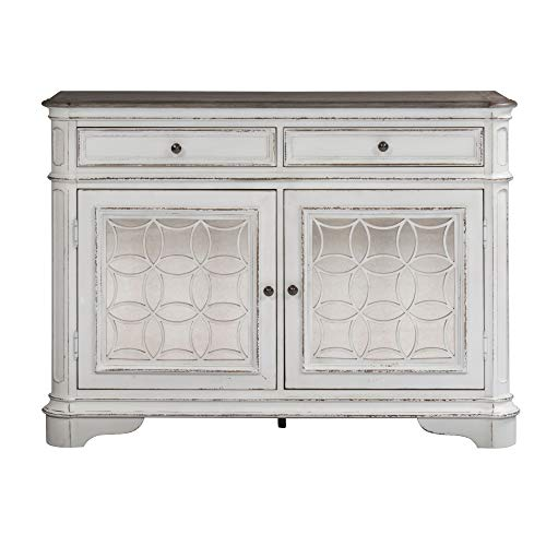 Svitlife Magnolia Manor Antique White Buffet Buffet Cabinet Storage Kitchen Sideboard Hutch Cupboard White Server