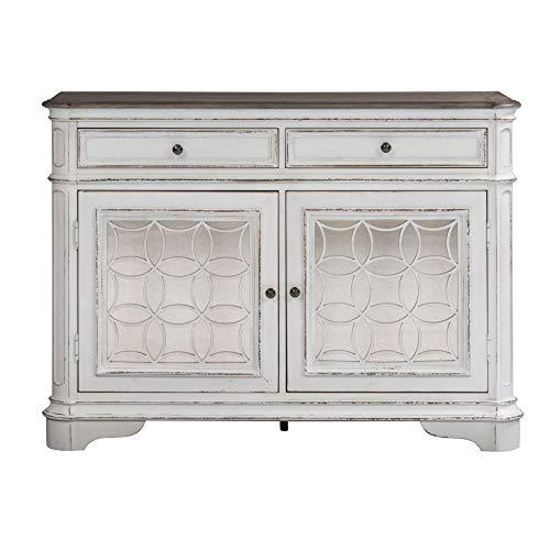 Svitlife Magnolia Manor Antique White Buffet Buffet Cabinet Storage Kitchen Sideboard Hutch Cupboard White Server
