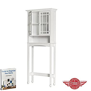 Storage Cabinet,Bathroom Medicine Wall Furniture,Adjustable Shelf Glass Door Cupboard,Home Indoor Store Organizer & Ebook by Easy 2 Find.