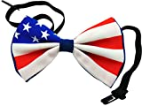 valentines day pre tied bow - USA American Flag Bowtie Pre-tied Satin Bow Tie for Formal Tuxedo Wedding Party Wear