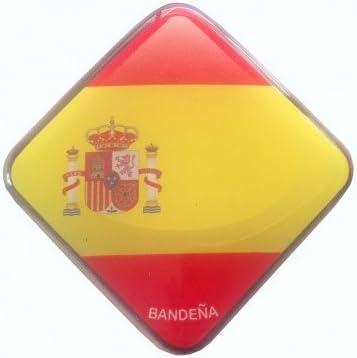 1 Unidad de Pegatina de Gota de Resina Con la Bandera de España 5,7x5,7cm | Ideales Para Decorar | Efecto de Adhesivo 3D | Duradero y Resistente: Amazon.es: Hogar
