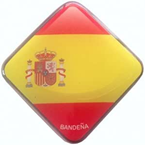 1 Unidad de Pegatina de Gota de Resina Con la Bandera de España 5 ...