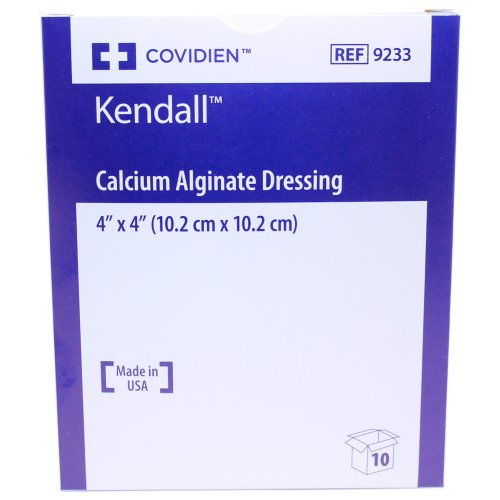 Kendall Calcium Alginate Wound Dressing - Sterile 4 x 4 - Box of 10 by Kendall