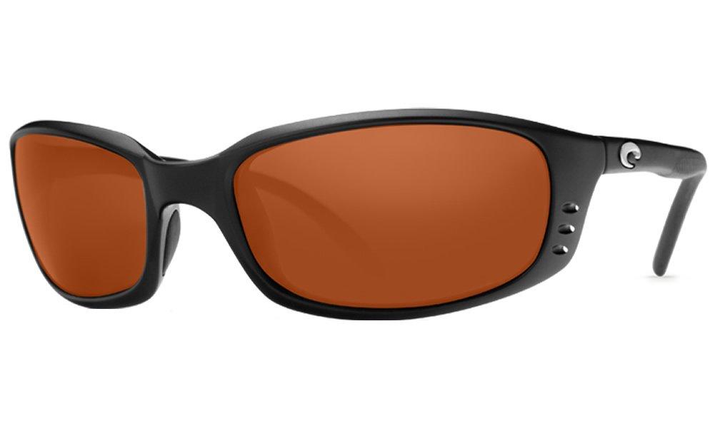 Costa Del Mar Brine Sunglasses, Black, Copper 580P Lens