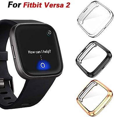 Jvchengxi Funda Protectora para Fitbit Versa 2, Cubierta ...