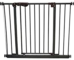 Crown Pet Products 30-Inch High Auto-Close Pressure Mounted Pet Gate with Extensions, Fits Openings 28.28\