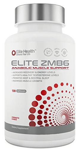 ELITE ZMB6 #1 Rated Zinc, Magnesium & Vitamin B6 Bodybuilding Supplement -...