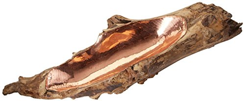 Elk Teak Root Copper Insert Bowl, Short,