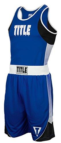 Title Boxing Aerovent Elite Amateur Boxing Set 7, Blue/White, X-Large