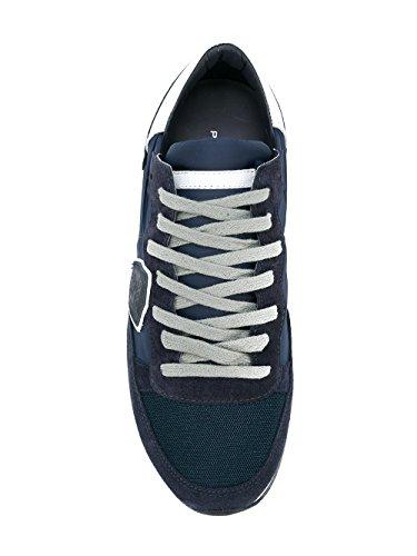 Philippe Model Mænd Trlu1111 Blå Klud Sneakers 3QtFeC6pL