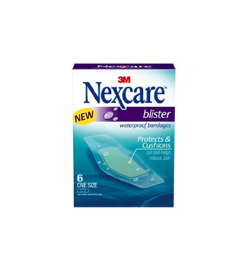 Nexcare BWB-06 Blister Waterproof Bandages, One Size, 6 Coun