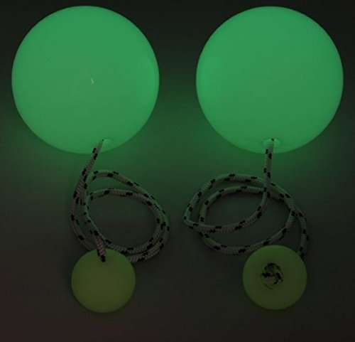 Play Pair of Contact GIGA Poi with 100mm Stage Ball - Glow in the Dark by Play (Image #1)